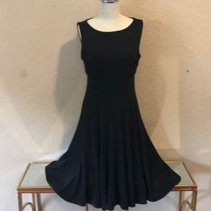 Jessica Howard Fit-and-Flare Black Dress